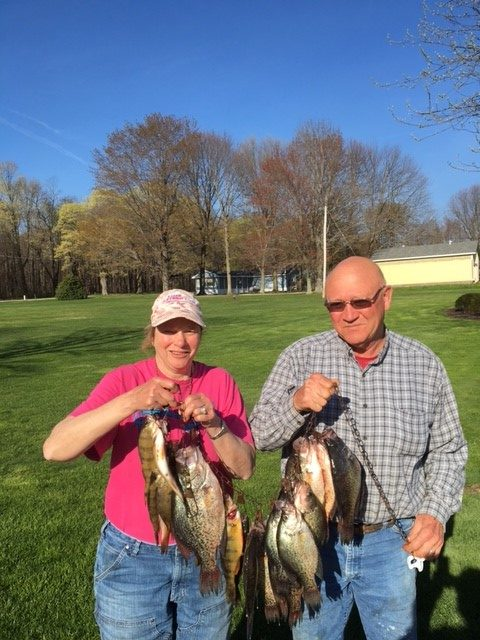 The Crappies are biting on Pymatuning Lake!